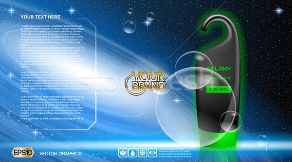 Digital vetor preto azul verde chuveiro Foto stock © frimufilms