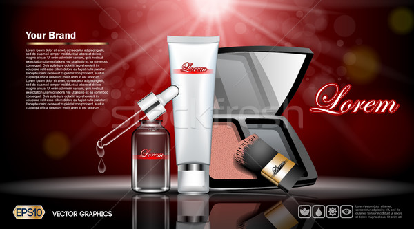 Digital vector red and silver skin Stock photo © frimufilms