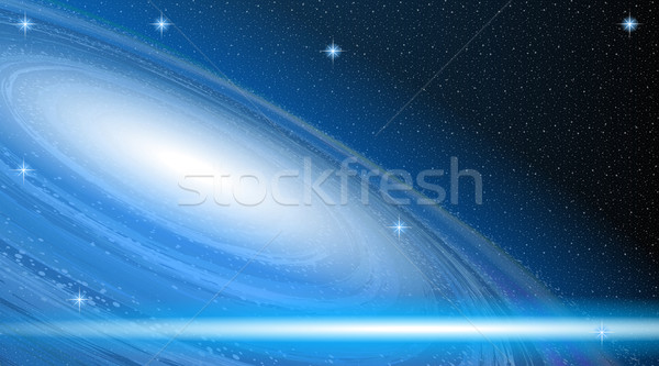 Digitale vector Blauw ruimte kosmisch abstract Stockfoto © frimufilms