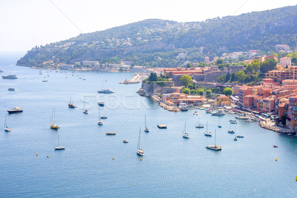 Beautiful daylight view to boats and ships on water in Cote Stock photo © frimufilms