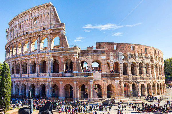 Ruins of the colosseum in Rome Stock photo © frimufilms