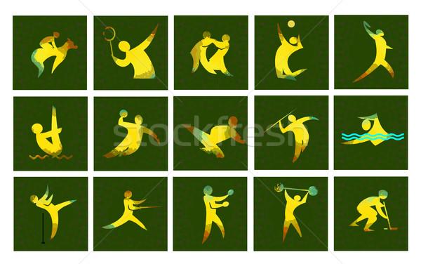 Stockfoto: Digitale · vector · afbeelding · sport · kaart