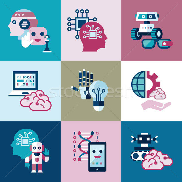 Digital vector artificial intelligence Stock photo © frimufilms