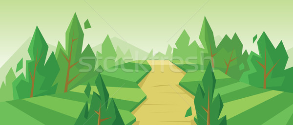 Digital vector abstract background with trees Stock photo © frimufilms