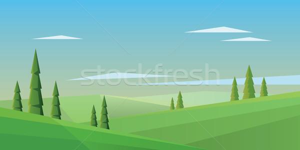 Dijital vektör soyut yeşil alanları Stok fotoğraf © frimufilms