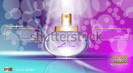 Profumo bottiglia cosmetici up modello Foto d'archivio © frimufilms