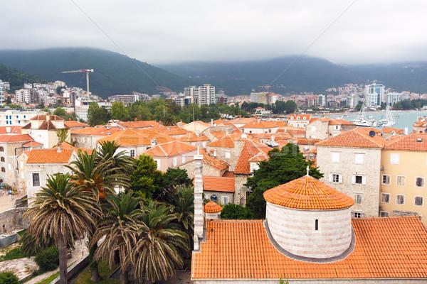 Kilátás óváros egy legjobb megőrzött középkori Stock fotó © frimufilms