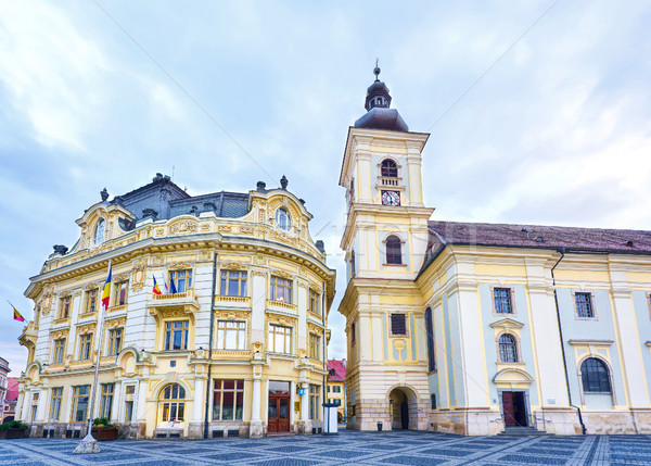 Sibiu city downtown Stock photo © frimufilms
