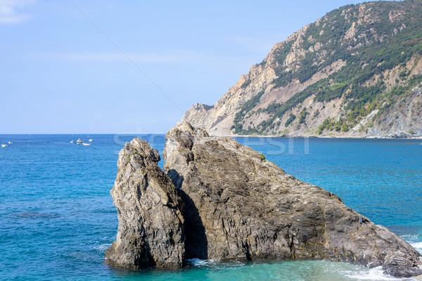 Görmek mavi deniz kaya Stok fotoğraf © frimufilms
