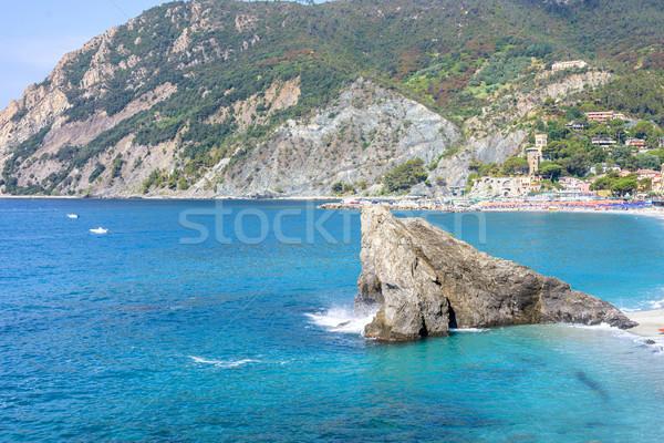 Daglicht Blauw zee rock Stockfoto © frimufilms