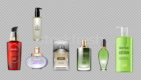 Digital vector red green perfume Stock photo © frimufilms