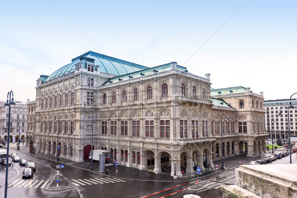 Photo view on vienna opera state house Stock photo © frimufilms