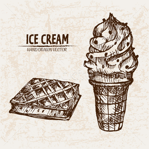 Digital vector detailed line art ornamented ice Stock photo © frimufilms