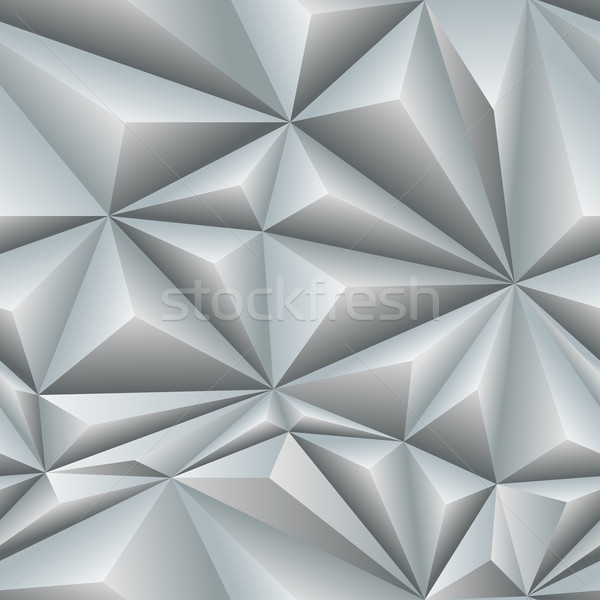 White Abstract Polygon Background Tile Stock photo © frostyara