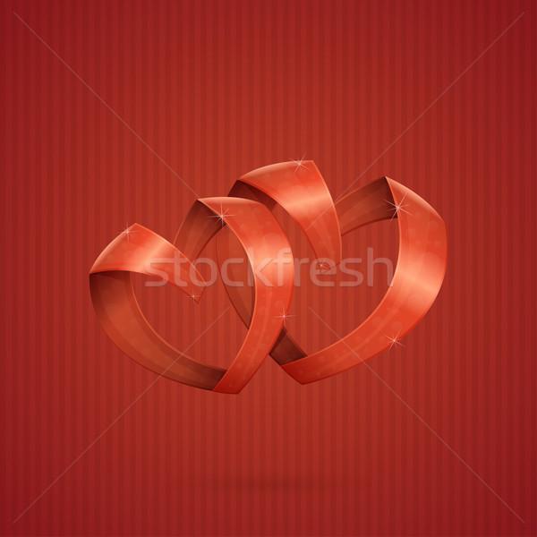 Hearts Ribbon Stock photo © frostyara