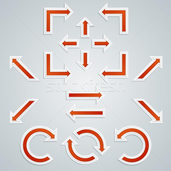 Сток-фото: набор · оранжевый · острый · Стрелки · Инфографика · различный