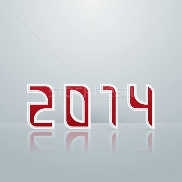 Stock photo: New Year. Figures Third Option