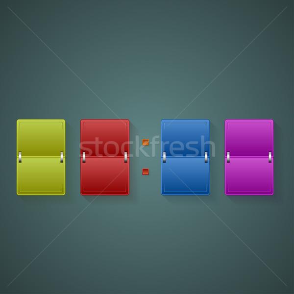 Gekleurd scorebord kleur boord donkere klok Stockfoto © frostyara