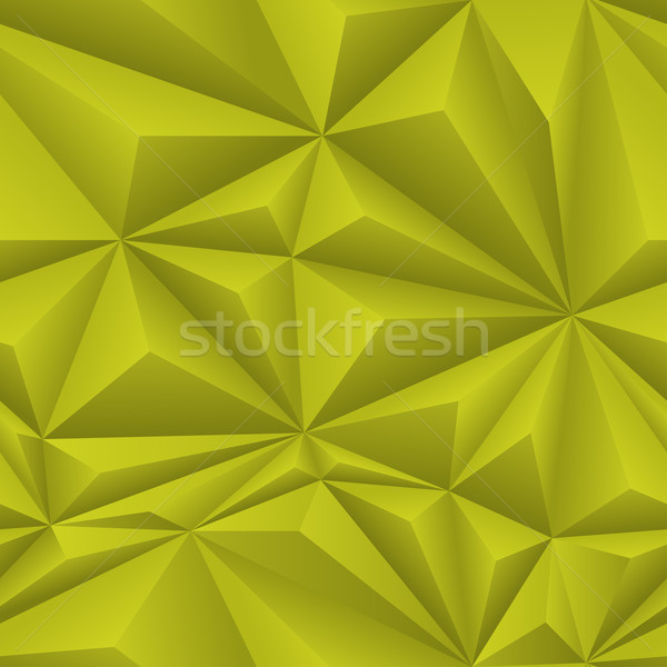 Yellow Abstract Polygon Background Tile Stock photo © frostyara