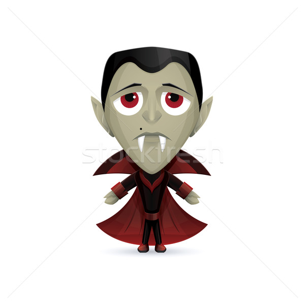 Dracula personnage triste vampire sombre costume Photo stock © frostyara
