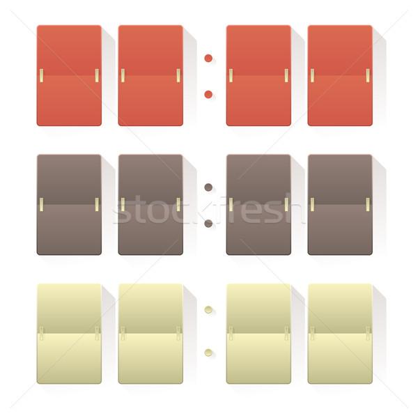 Sayı tahtası tahta stil farklı renkler beyaz Stok fotoğraf © frostyara