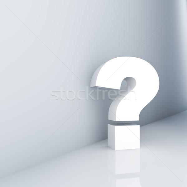 Punto di domanda corridoio abstract sfondo segno Foto d'archivio © froxx