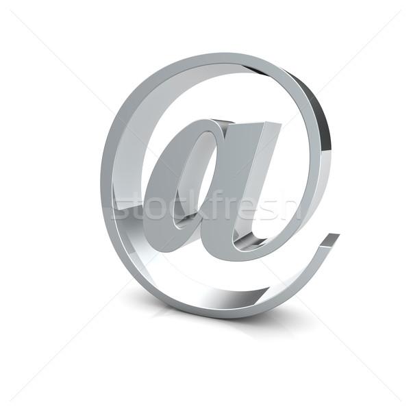 E-mail simbolo argento internet design Foto d'archivio © froxx