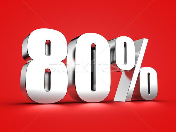 80 cento segno 3D ottanta Foto d'archivio © froxx