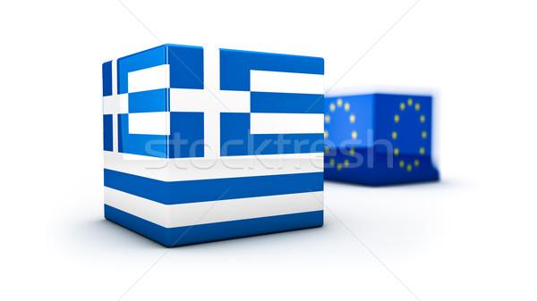 Grecia abstract dimostrazione membro unione Foto d'archivio © froxx