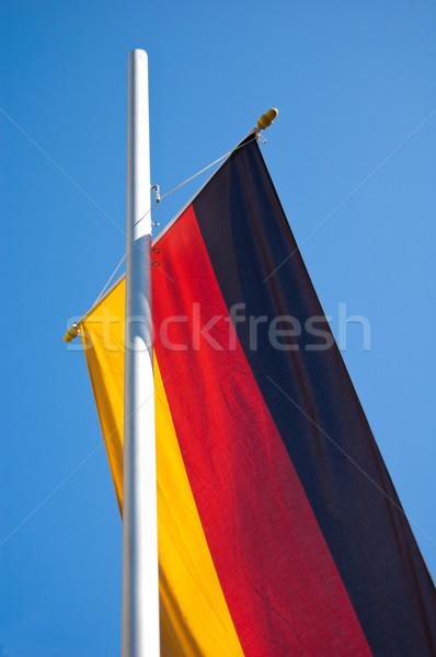Bandiera Germania cielo blu Foto d'archivio © froxx