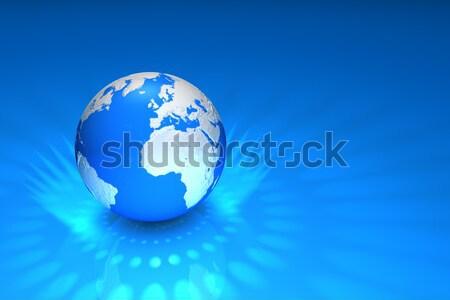 Mondo mondo luce riflessione blu sfondo Foto d'archivio © froxx