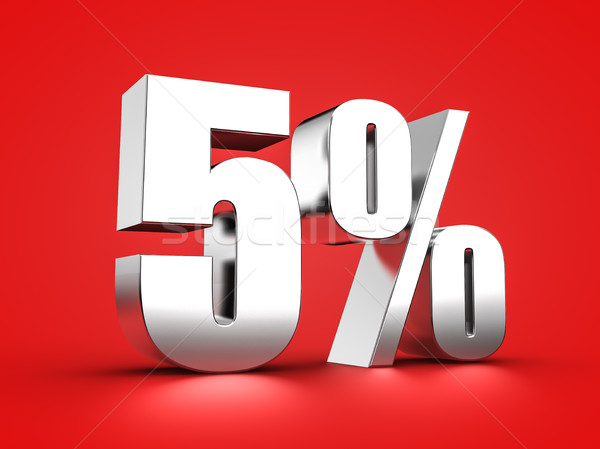 5 percent sign Stock photo © froxx