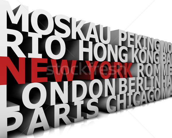 Metropolis New York Stock photo © froxx