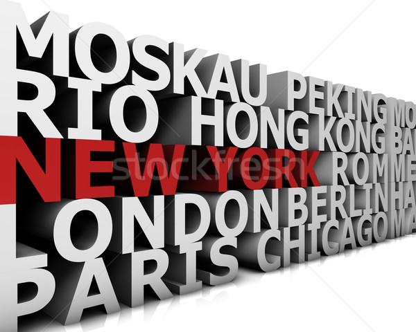 Metropolis New York demonstratie groot steden 3D Stockfoto © froxx