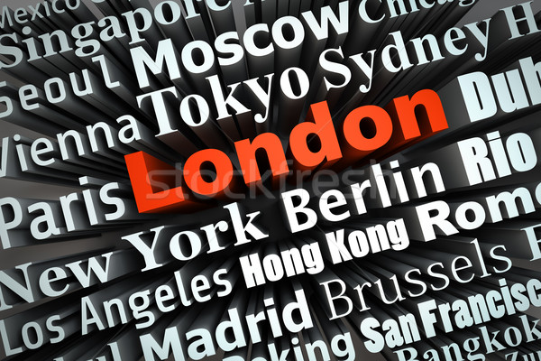大都市 ロンドン デモ ビッグ 都市 3D ストックフォト © froxx