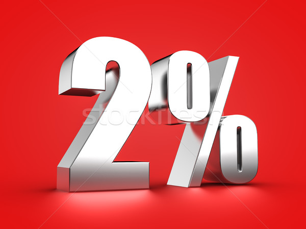 2 percent sign Stock photo © froxx
