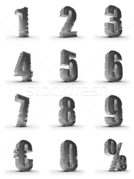 Stock photo: silver numbers