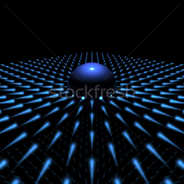 blue light sphere Stock photo © froxx