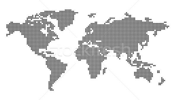 Fehér világtérkép fekete pontok térkép tapéta Stock fotó © froxx