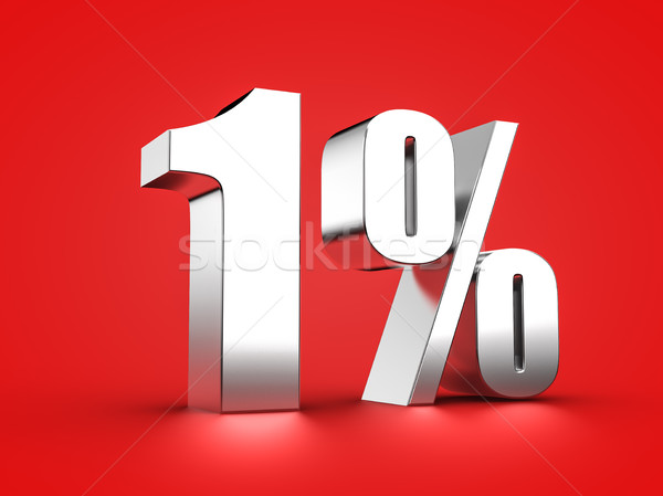 1 percent sign Stock photo © froxx