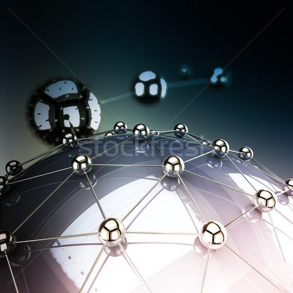Netwerk abstract demonstratie communicatie metaal vrienden Stockfoto © froxx