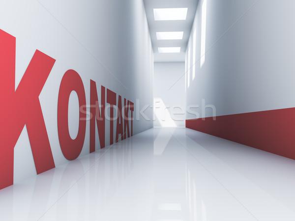 Contatto rosso testo bianco stanza Foto d'archivio © froxx