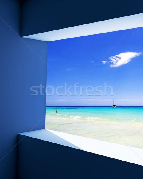 Tenger kilátás óceán természet fény háttér Stock fotó © froxx