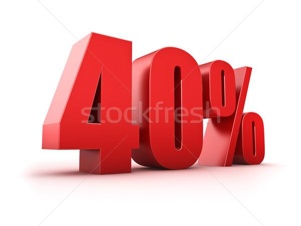 40 cento 3D quaranta simbolo Foto d'archivio © froxx