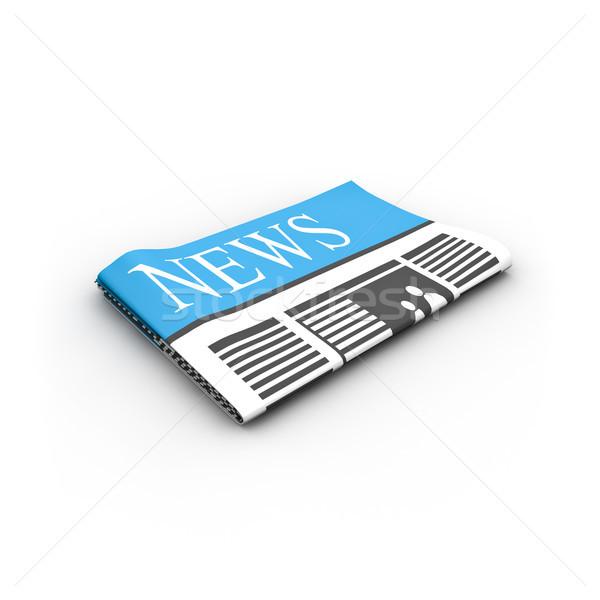 Giornale carta internet abstract informazioni Foto d'archivio © froxx