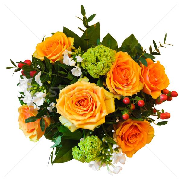 Buket yalıtılmış güzel renkli çiçek gül Stok fotoğraf © froxx
