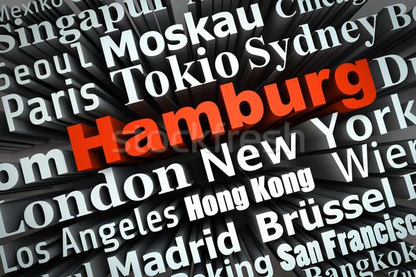 Metropolis hamburg demonstratie groot steden 3D Stockfoto © froxx