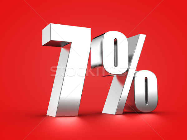 7 percent sign Stock photo © froxx