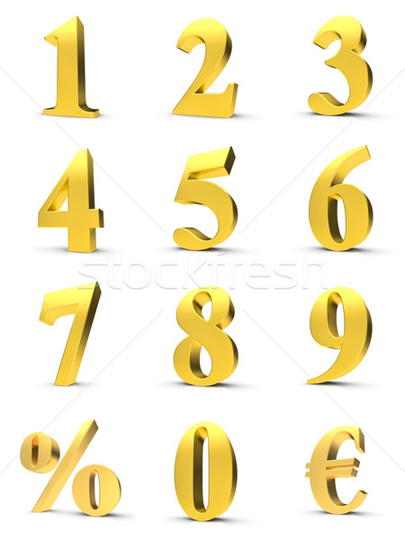 Golden numbers Stock photo © froxx