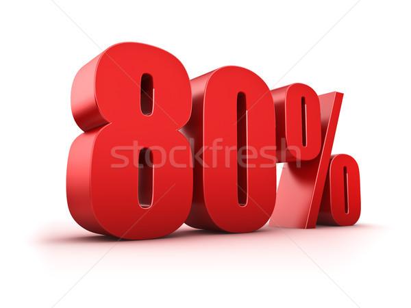Stock photo: 80 percent